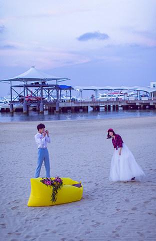 三亚湾-海边暮色